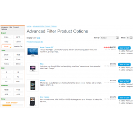Advanced Filter Product Options For Opencart