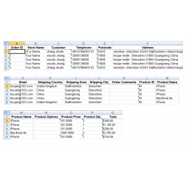 Export Orders To CSV For OpenCart